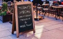 restaurant advertising medicare event