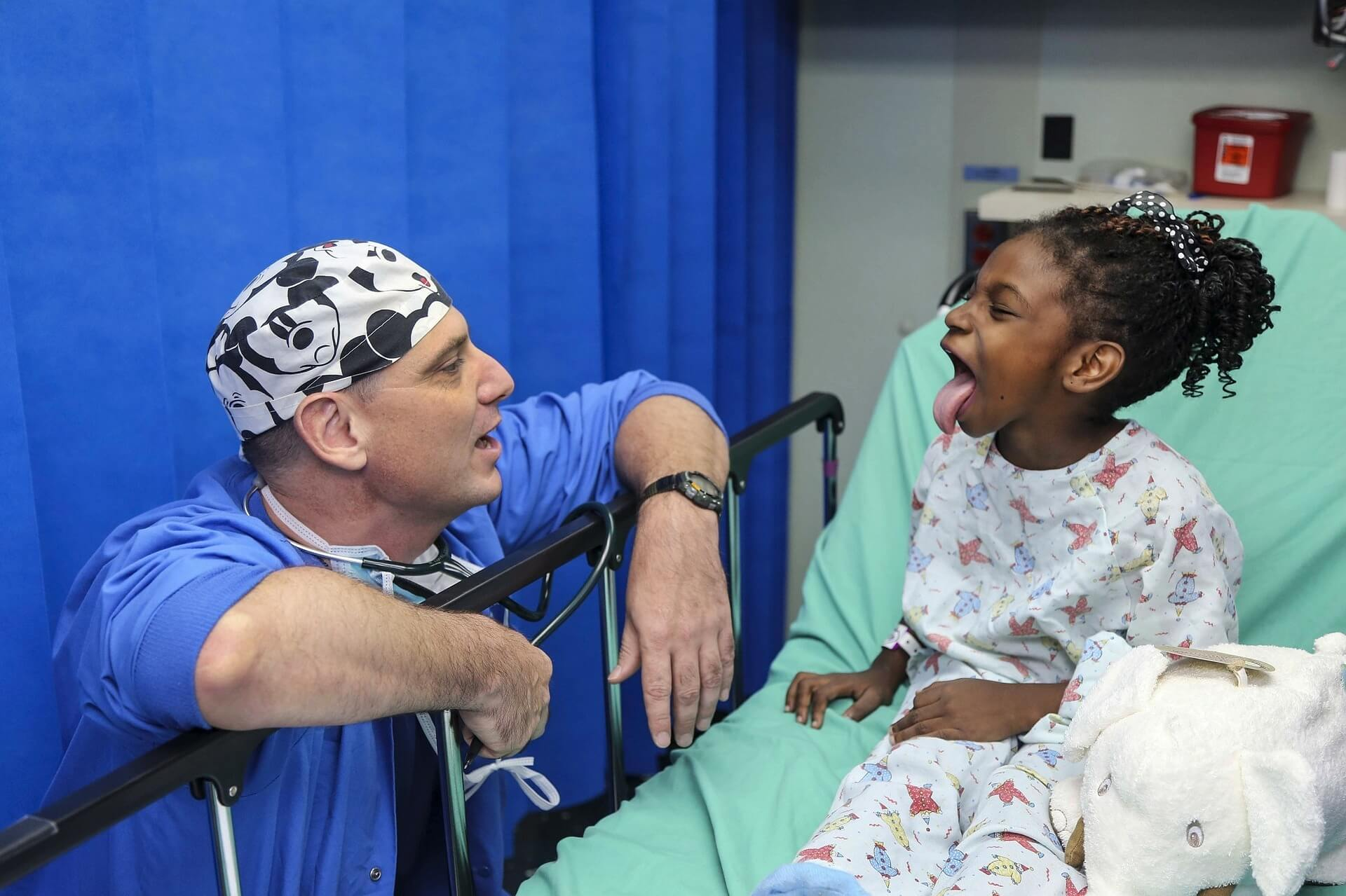 doctor with a young patient